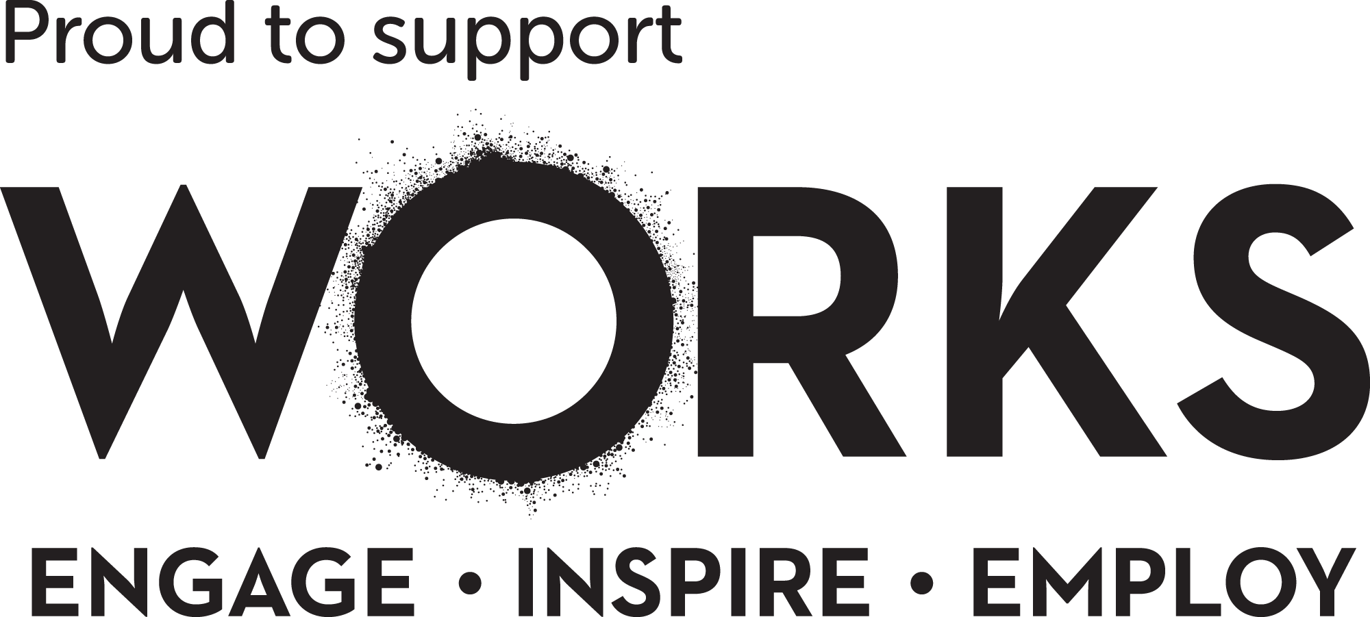 WORKS Proud to support - mono logo